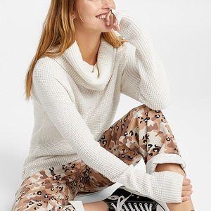 Cream Cowl Neck Sweater - Simon's